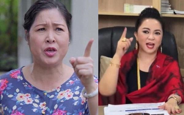 """NSND Hồng Vân tuyên bố clip mắng khán giả bị cắt ghép với ý đồ xấu, """"ngôi sao IT"""" đứng sau bà Phương Hằng phản bác: Thách dám kiện!"""