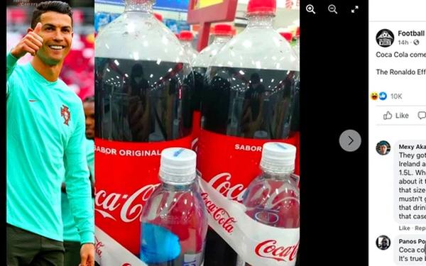 Sau cú gạt tay thổi bay 4 tỷ đô của Ronaldo, Coca Cola bán chai lớn tặng kèm nước lọc?
