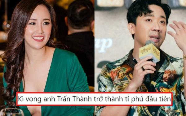 """Mai Phương Thúy kỳ vọng Trấn Thành trở thành """"tỉ phú đầu tiên của làng giải trí Việt"""""""