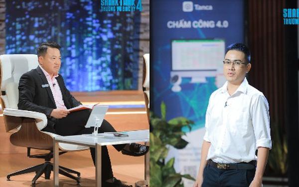 """Shark Bình gọi thẳng startup TanCa là """"kẻ đào mỏ"""": Kinh doanh phần mềm chấm công bằng camera AI, GPS công nghệ """"bình thường"""", chưa có lãi nhưng định giá tận 5 triệu USD"""