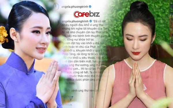 Angela Phương Trinh gây tranh cãi khi bày cách trị ung thư bằng niệm Phật: 'Nói chuyện, trải lòng từ bi, cầu cho khối u siêu thoát, dần dần khối u sẽ biến mất'?