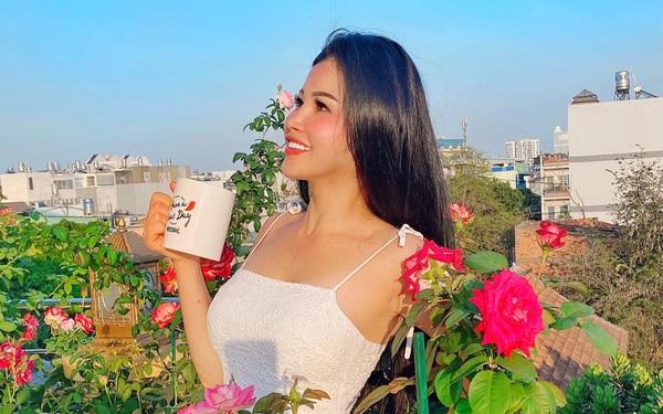Sân thượng phủ kín hoa hồng và rau quả sạch ở Sài Gòn của Hoa hậu Janny Thủy Trần