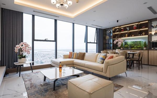 Khám phá căn hộ duplex sở hữu tầm view bao trọn sông Hồng trong khu nhà giàu bậc nhất Hà Nội