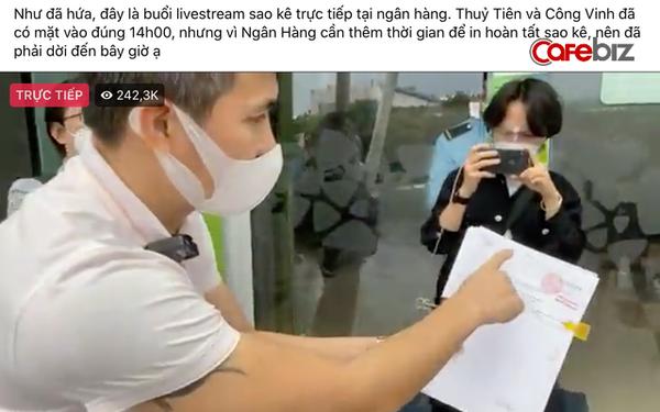 Livestream công bố sao kê, vợ chồng Thuỷ Tiên - Công Vinh lập kỷ lục gần 500k người xem: Gấp đôi kỷ lục livestream của bà Phương Hằng, bằng 12 lần sức chứa sân Mỹ Đình!