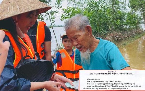 """Chủ tịch Ủy ban MTTQ tỉnh Quảng Trị phản hồi Thủy Tiên: """"Chúng tôi không kiểm đếm số tiền, chỉ có trách nhiệm hỗ trợ"""""""