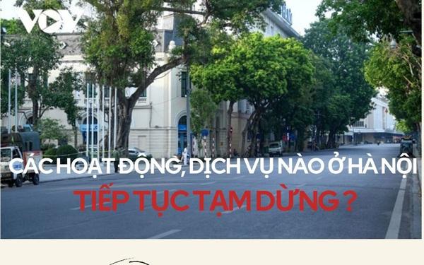 Hoạt động, dịch vụ nào ở Hà Nội vẫn phải tạm dừng do dịch Covid-19?