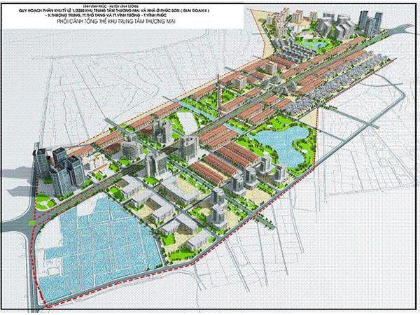 Thủ tướng đồng ý việc đầu tư khu TTTM và nhà ở 130 ha tại Vĩnh Phúc