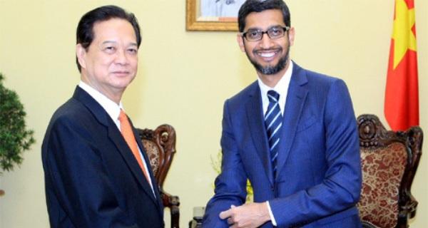 Thủ tướng tiếp Tổng giám đốc Tập đoàn Google