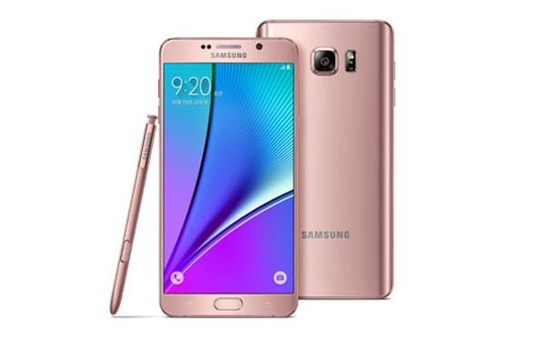 """Samsung tung Note 5 vàng hồng """"đấu"""" iPhone 6s và 6s Plus"""