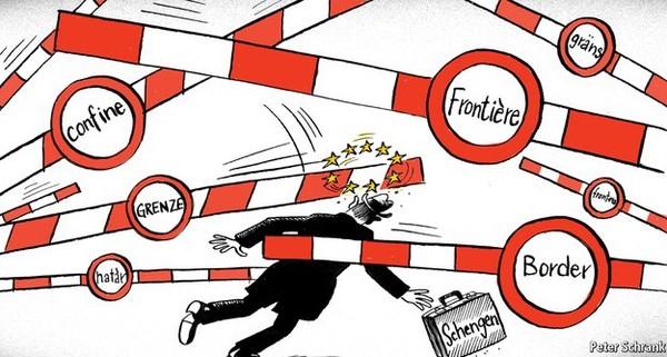 """Sau thảm họa Paris, những """"chiếc cầu"""" liên kết châu Âu đóng lại?"""
