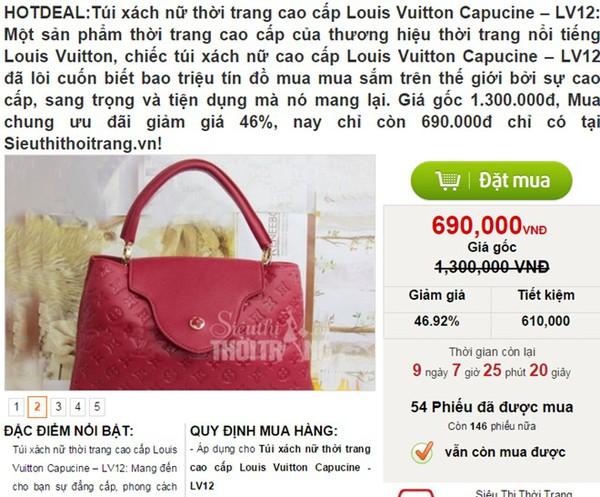 'Hàng hiệu' giá vài trăm nghìn đồng bán tràn lan trên mạng