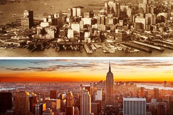 """Sự thay đổi thần kỳ của các """"siêu đô thị"""" sau 100 năm"""