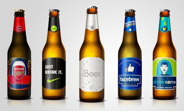 Những thiết kế tuyệt vời nếu Facebook, Apple, Nike sản xuất bia