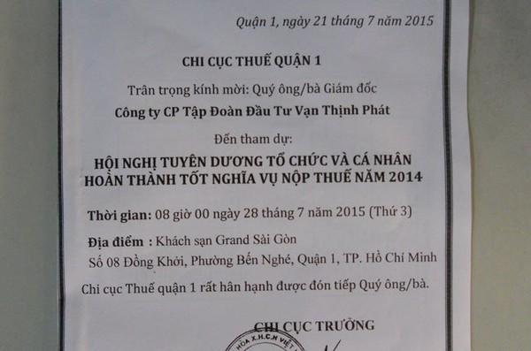 """Cục thuế TP.HCM xin lỗi và xác nhận Vạn Thịnh Phát, Him Lam """"không nợ thuế"""""""