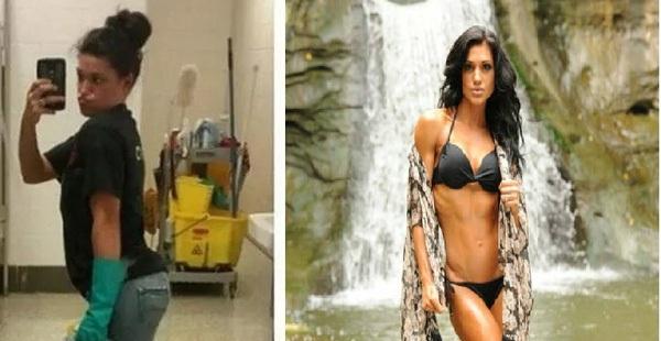 Từ nhân viên dọn nhà vệ sinh đến người mẫu thể hình nóng bỏng: Cô gái này khiến ai cũng phải ngưỡng mộ!