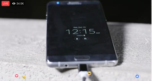 35.000 người 'rảnh rỗi' đang ngồi xem Samsung Galaxy Note7 sạc pin, chờ phát nổ