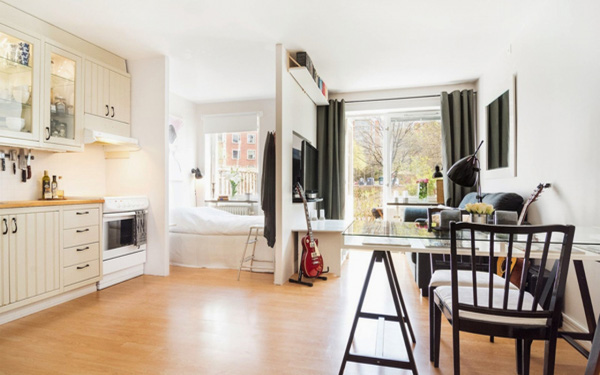 Những căn hộ 30m² tuyệt đẹp có hiên nhà đầy nắng