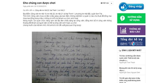 Học sinh gửi tâm thư, lãnh đạo Đà Nẵng giải quyết ngay