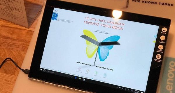 Lenovo chính thức mở bán Yoga Book '2-trong-1' mỏng nhất thế giới, giá từ 12,99 triệu đồng