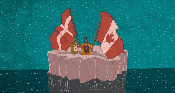 Canada và Đan Mạch có một cuộc chiến giành lãnh thổ kéo dài 30 năm nay, với vũ khí là ... rượu whiskey
