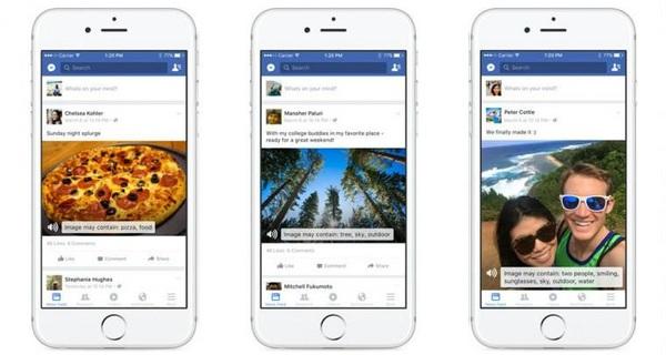 """Facebook phát hành tính năng """"đọc"""" ảnh cho người mù"""