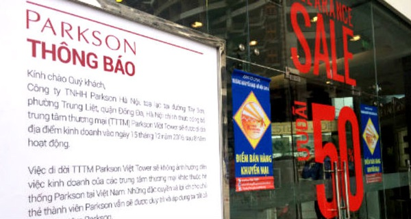 """Parkson Việt Tower viết tiếp câu chuyện buồn của """"đại gia"""" bán lẻ Malaysia"""