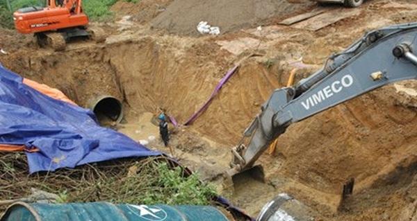 Lần thứ 20 đường ống nước sông Đà gặp sự cố