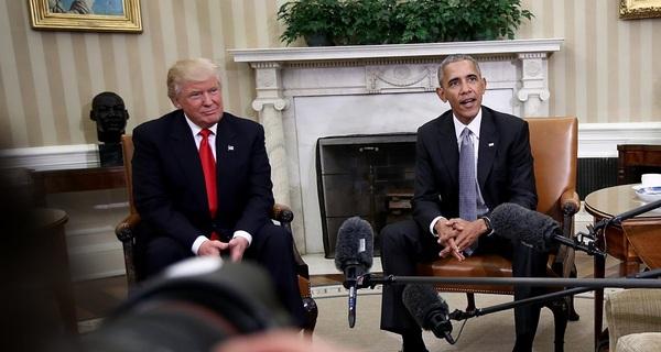 """Tổng thống Obama nói đã đến lúc """"cùng chung tay góp sức"""" với ông Trump"""