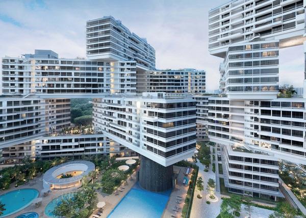 Quanh năm nóng nực, người Singapore đã nghĩ ra kiến trúc chung cư giúp mát mẻ tuyệt vời