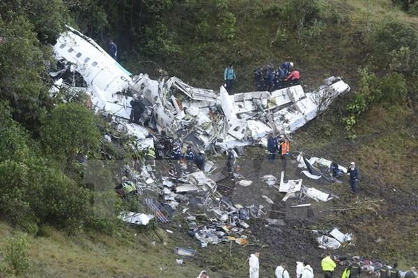 Rơi máy bay ở Colombia: Thấy hộp đen, số người chết xác định là 71