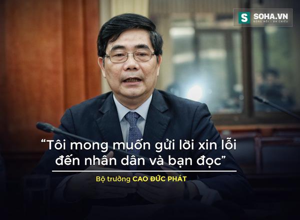 """Lời xin lỗi và """"cơ hội hiếm có"""" của Bộ trưởng Cao Đức Phát"""