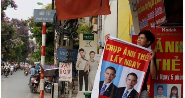 Báo tây ghi lại không khí chào đón ông Obama ở Hà Nội