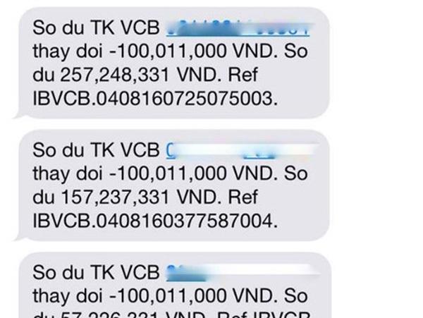 Vụ khách hàng Vietcombank mất 500 triệu đồng có dấu hiệu lừa đảo