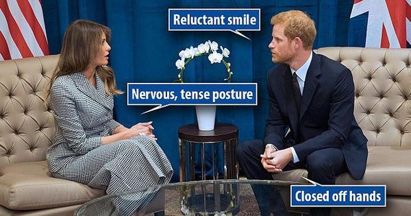 Chuyên gia ngôn ngữ cơ thể chỉ ra sự khác biệt trong cách nói chuyện của Hoàng tử Anh với bà Melania Trump và bà Michelle Obama