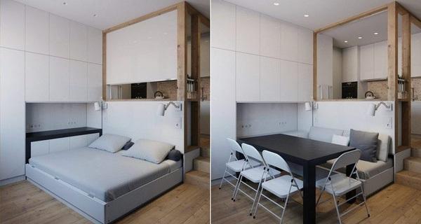 Thiết kế nội thất thoáng rộng đến bất ngờ cho căn hộ 25m2