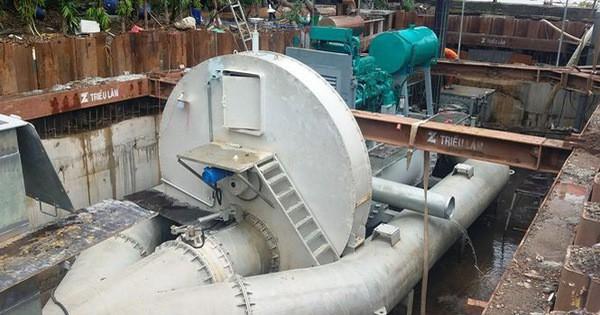 Thí điểm thành công 'siêu máy bơm' chống ngập ở TP HCM