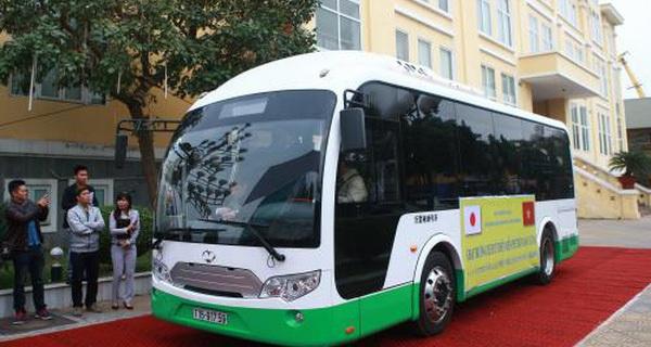 Hải Phòng chạy thử xe buýt bằng năng lượng mặt trời đầu tiên