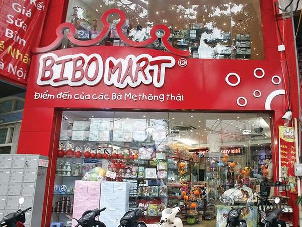Kết quả hình ảnh cho Hệ thống cửa hàng mẹ và bé Bibo Mart