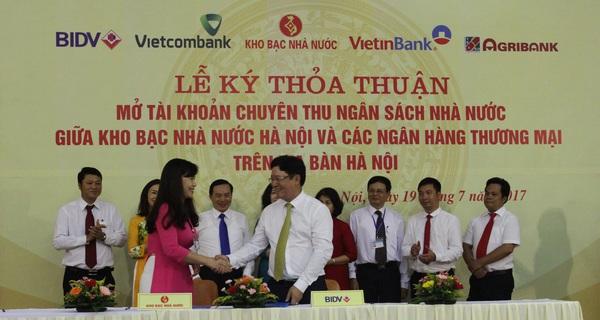 BIDV và Kho bạc Nhà nước ký kết Thỏa thuận phối hợp thu Ngân sách Nhà nước trên địa bàn Hà Nội