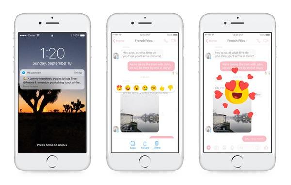 """Đã có thể """"Phẫn nộ"""" hoặc """"Wow"""", đồng thời """"tag"""" người dùng trong Facebook Messenger"""