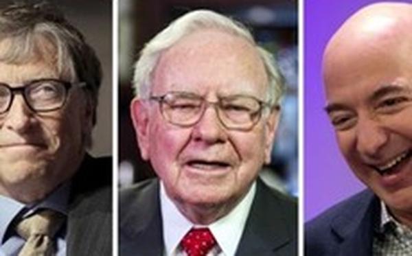 Bill Gates, Warren Buffett và Jeff Bezos có nhiều tiền hơn một nửa nước Mỹ