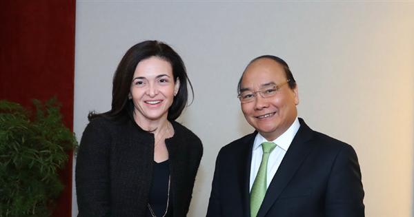 Thủ tướng Chính phủ muốn Facebook tăng cường hợp tác ở Việt Nam