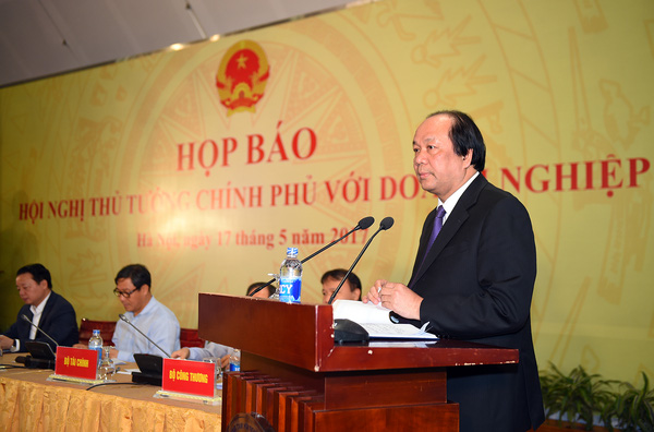 Nội dung họp báo Chính phủ sau Hội nghị Thủ tướng với doanh nghiệp