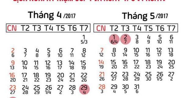Dịp 30/4 - 1/5 sắp tới: Người lao động được nghỉ liền 4 ngày
