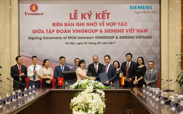 Vingroup bắt tay với Siemens, sẵn sàng công nghệ cho sản xuất ô tô