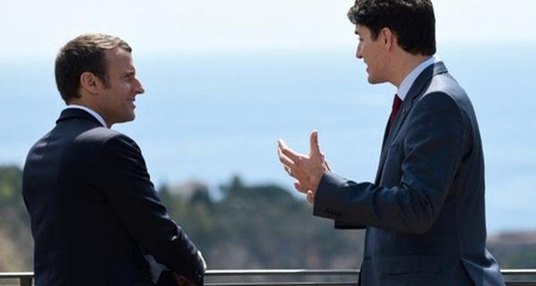 """Cộng đồng mạng xôn xao vì những bức ảnh đẹp đến """"rụng tim"""" của hai vị nguyên thủ tại Hội nghị G7"""