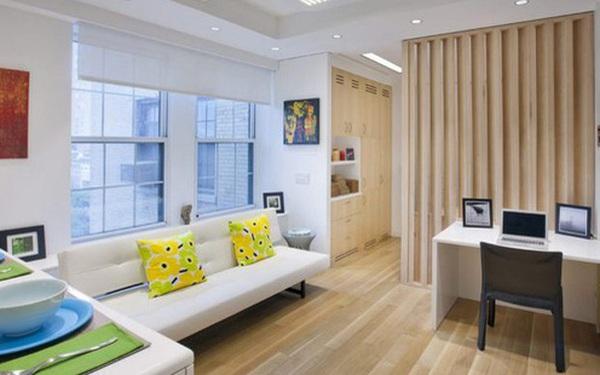 """Thiết kế nội thất căn hộ 32m2 """"chất lừ"""" cho gia đình trẻ"""