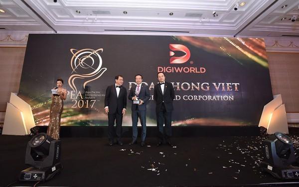 Chủ tịch Digiworld Đoàn Hồng Việt là lãnh đạo ngành công nghệ duy nhất giành giải Doanh nhân Châu Á