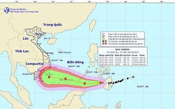 Chưa bao giờ xảy ra bão muộn, mạnh như bão Tembin, rủi ro thiên tai cấp cao nhất