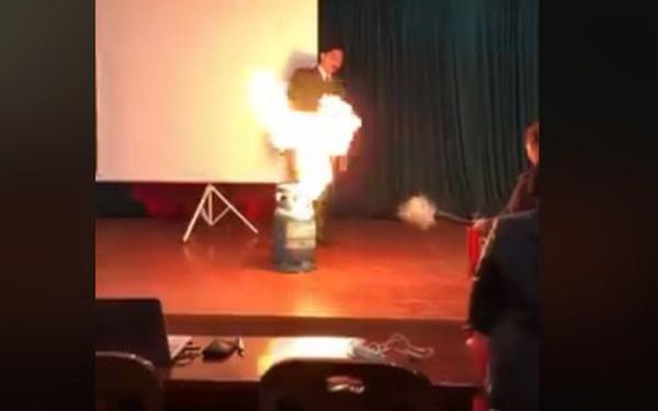 Bình gas có cháy cũng không nổ ngay đâu, xin bạn hãy bình tĩnh xử lý